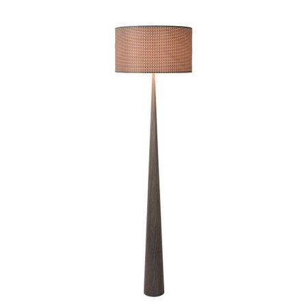 Lampe sur pied bois abat-jour E27