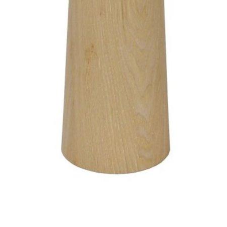 Staande lamp met kap hout E27