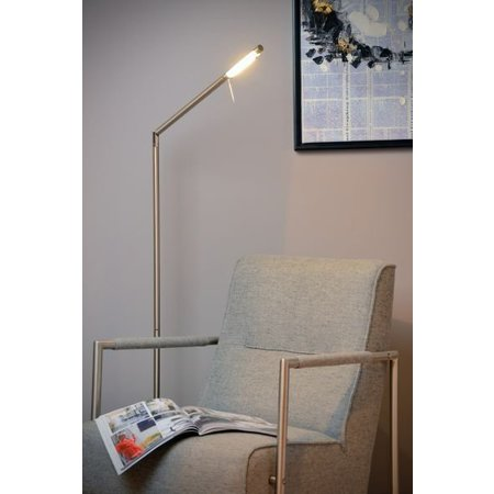 LED floor reading lamp white, grey or black dimmable