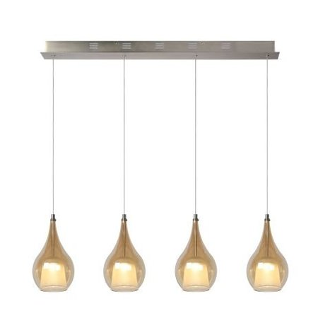 4 pendant light fixture glass LED 4x5W