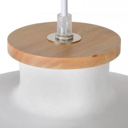 Hanglamp boven eetkamertafel grijs of wit
