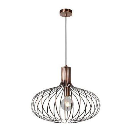 Cage hanging light copper, black, grey, Ø 50 or 65