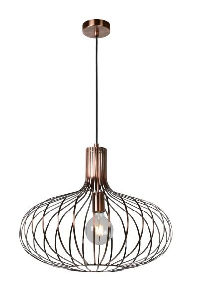 suspension fil de fer cuivre noir gris 50 ou 65 myplanetled. Black Bedroom Furniture Sets. Home Design Ideas