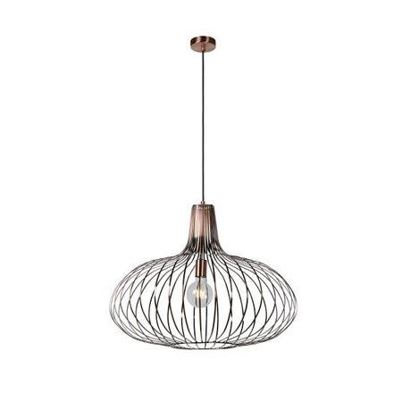 Hanglamp draadlamp koper, zwart, grijs, Ø 50 of 65