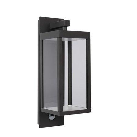 Applique extérieur avec détecteur LED verre