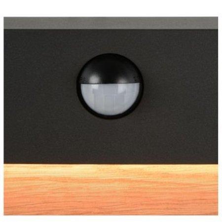 Wandlamp sensor LED 15W met hout