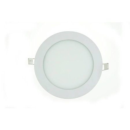 LED panel light 12W round recessed 170mm diameter white