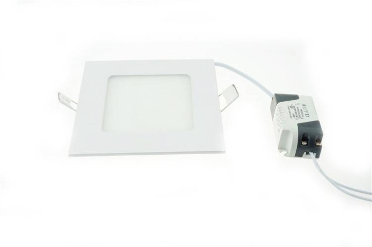 LED panel light 12W recessed square 170mm diameter white
