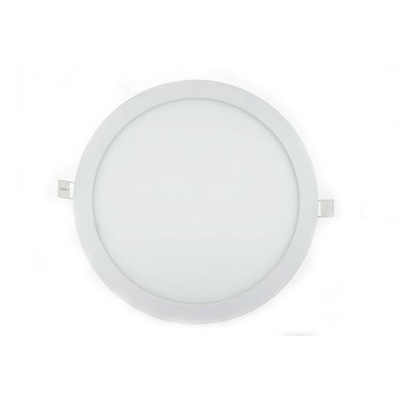 Dalle LED plafond ronde encastrable 24W 300mm diamètre