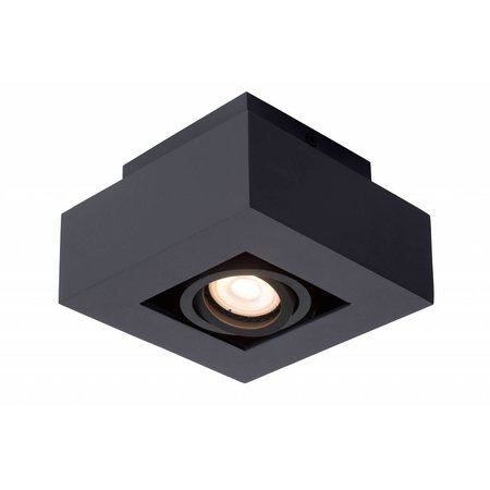 Dimmable to warm ceiling light LED white-black 5W