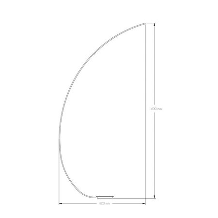 Floor lamp arch LED white or black 7,8W 1700mm high
