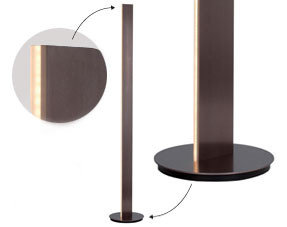 Floor lamps brown