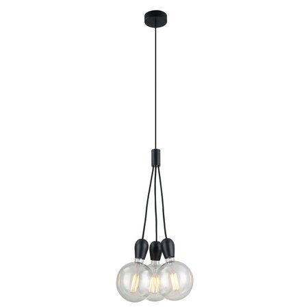Pendant light 3 white, chrome, black