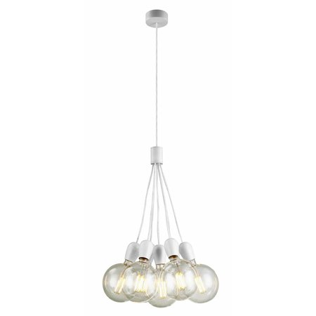 7 light pendant light chrome, white, black