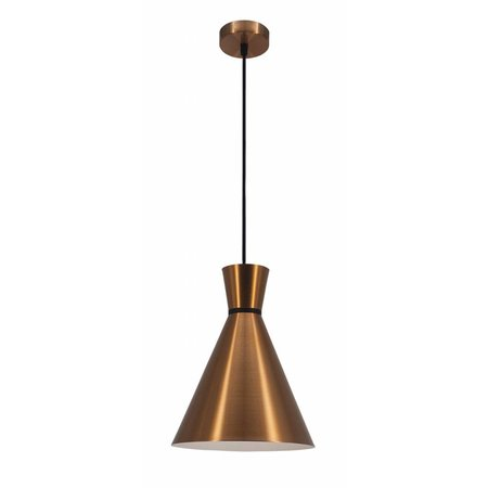 Cone lamp white, black or copper