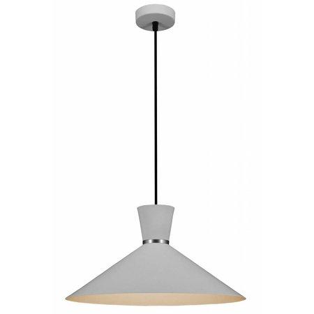 Hanglamp 40 cm  conisch wit, zwart of koper