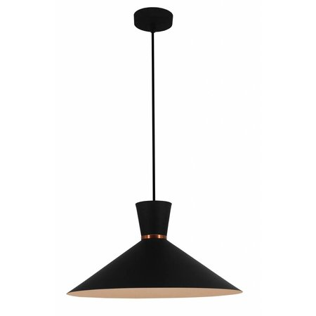 Cone pendant light white, black or copper