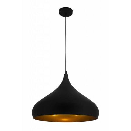 Hanglamp druppelvorm koper, zwart of bruin