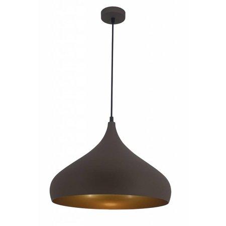 Hanglamp druppelvorm koper, zwart of bruin 42 cm breed