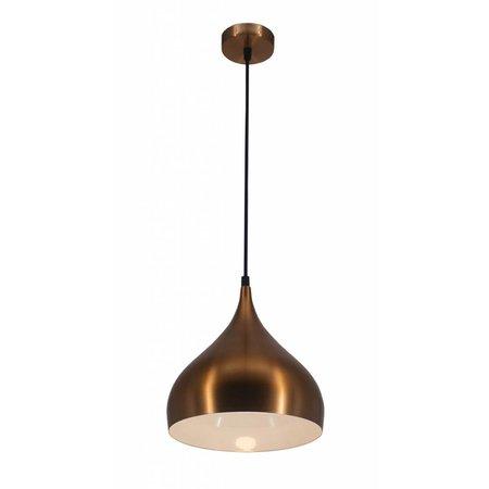 Sfeervolle hanglamp druppel zwart, koper, bruin 32 cm breed