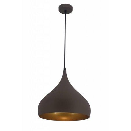 Drop pendant light black, copper, brown