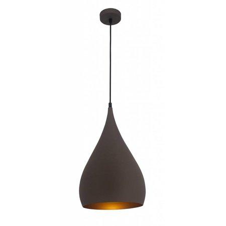 Druppel hanglamp zwart, koper, koffiebruin
