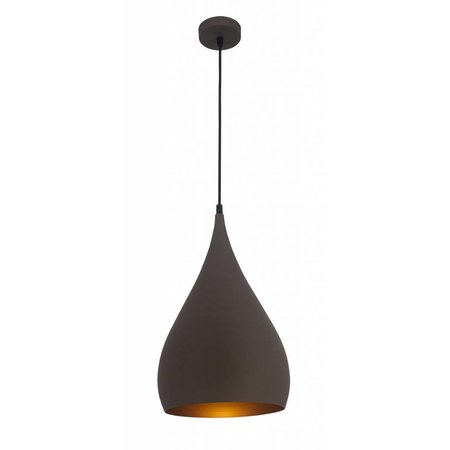 Teardrop pendant light black, copper, brown