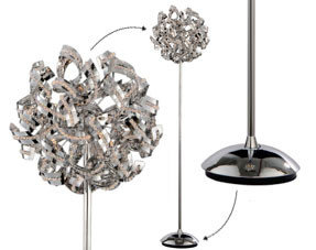 Floor lamps chrome