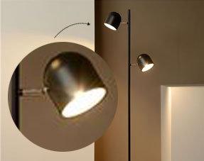 Vloerlampen met leeslamp
