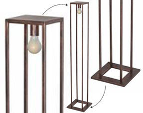 Floor lamps copper