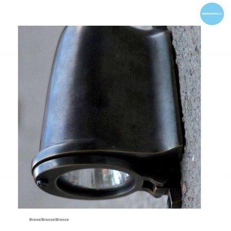 Outdoor wall light rural bronze, nickel or chrome GU10