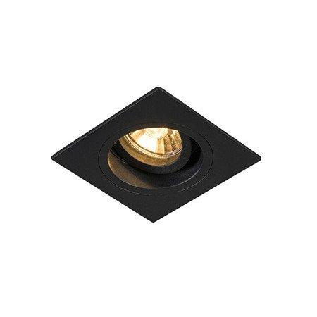 Spot encastrable noir doré GU10