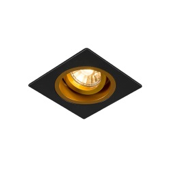 Square GU10 downlight black gold