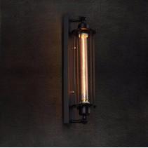 Luminaire mural industriel noir verre