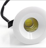 40 mm cut out downlight IP44 round, square 3W LED