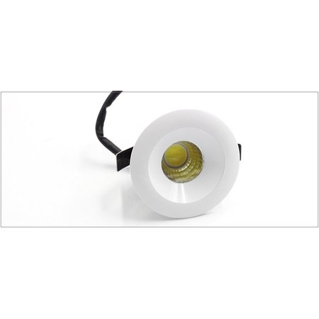 Inbouwspot 40 mm IP44 rond, vierkant 3W LED