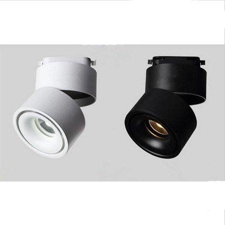 LED spot op rail design wit of zwart 9W