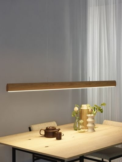 Office Hanging Light Wood 125 185 Cm Led Dimmable