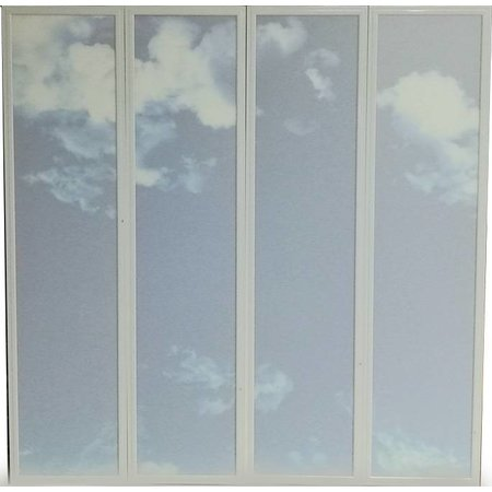 Cloud ceiling 120x120cm (4x 30x120cm, 4x40W)