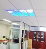 Dalle LED ciel bleu 120x120cm (4x 30x120cm, 4x40W)