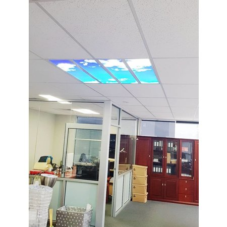 LED wolkenplafond 120x120cm (4x 30x120cm, 4x40W)