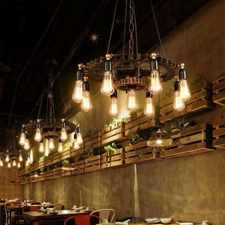 Tandwiel lamp hout 65 cm