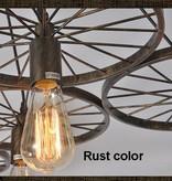Roue devient luminaire suspendu vintage pour éclairage LED