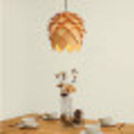 Bloem lamp hout 25 cm diameter