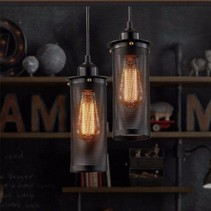 Industrial hanging light black with holes