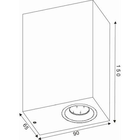 Applique haut bas extérieure noir ou blanc 2xspot