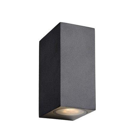 Wandlamp buiten up down zwart of wit 2xspotje