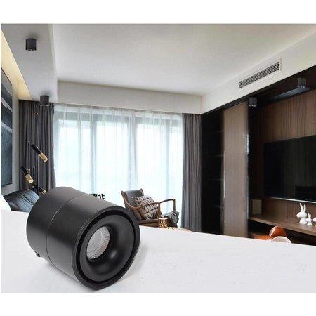 Opbouw spot LED design kantelbaar 15 of 20W wit, zwart