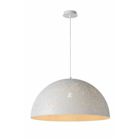 Dome pendant light white dots 60cm diameter E27