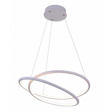 Suspension spirale noir ou blanc 47W LED 52,5 cm